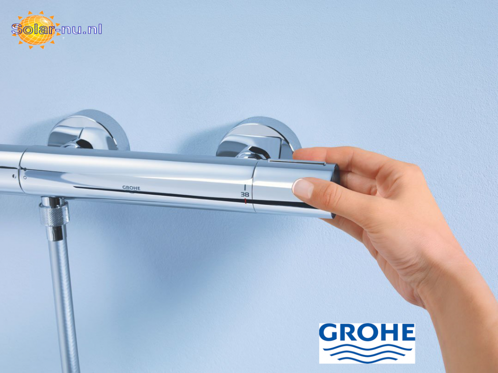 grohe grohtherm 1000 cosmopolitan douchethermostaat koppelingen chroom 34065002 warmwater. Black Bedroom Furniture Sets. Home Design Ideas