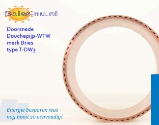 Douchepijp-WTW merk Bries T-DW3, 2015x63mm 15L. η tot 66%