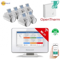 Honeywell Evohome Wifi pakket OT set+6 RF thermostaatknoppen ATP954M30206   *SALE*