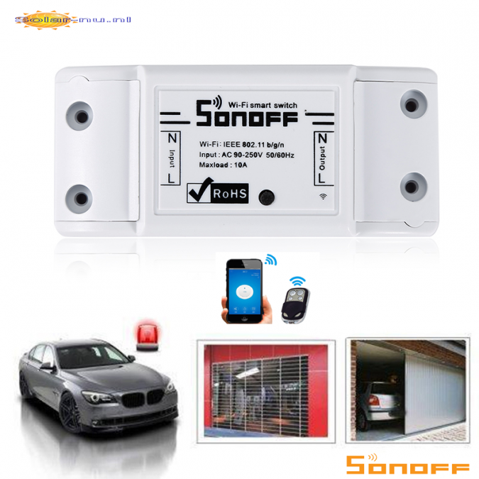 RoHS Sonoff 10A Wifi Smart Switch Afstandsbediening