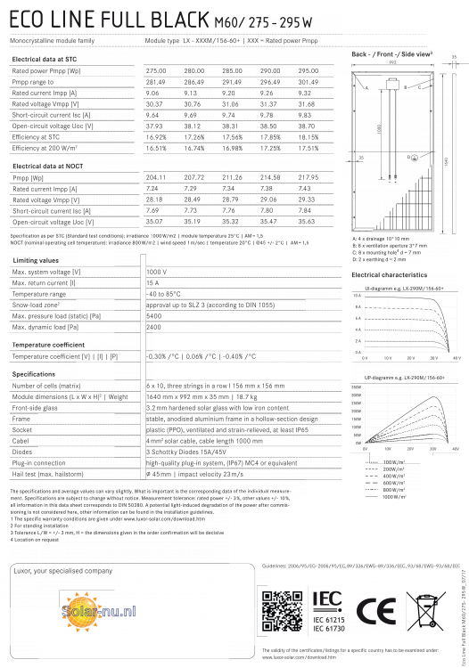 luxor eco line full black m60  275w  fs35   4bb   u20ac 0 567w