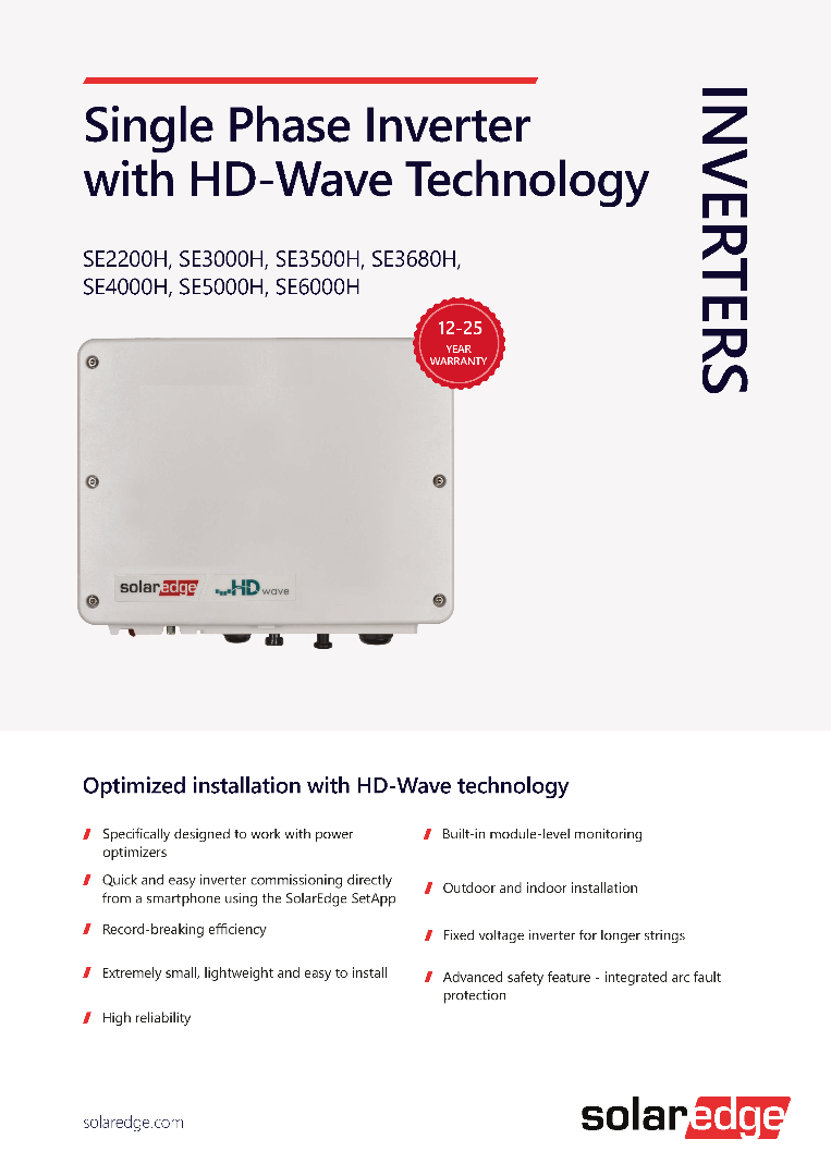 SOLAREDGE 2200-6000 1 FASE APP-READY