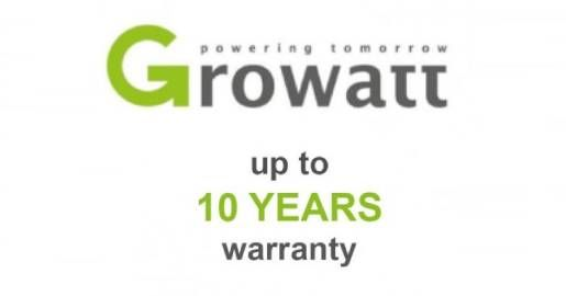GROWATT 10 YEARS GARANTEE