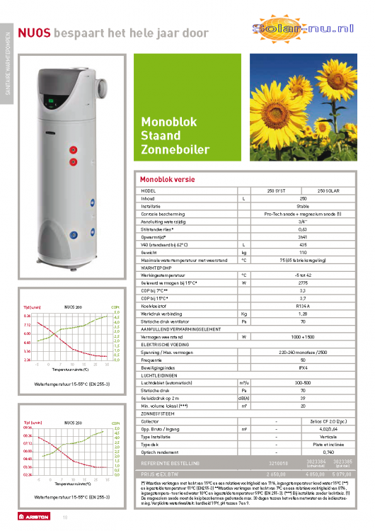 Ariston Nuos PLUS 250L SYSTEM, SOLAR